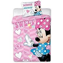 100x135 cm mit Rei/ßverschluss Kinderbettw/äsche Disney III 2-teilig 100/% Baumwolle 40x60 Mickey