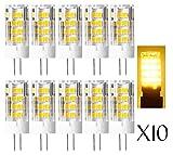 10pcs 4.5W G4 LED Lampe ersetzt 35W~40W Halogen Lampen, AC/DC 12V 380lm Warmweiß 3000K 51 SMD2835 360° Abstrahlwinkel ,G4 LED Leuchtmittel Rundstrahler Birne.
