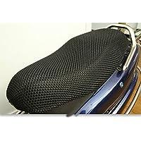 Behavetw Funda protectora para asiento de motocicleta, tejido de malla 3D, transpirable, antideslizante, resistente, para scooter