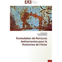 Formulation de peintures anticorrosion pour la protection de l acier
