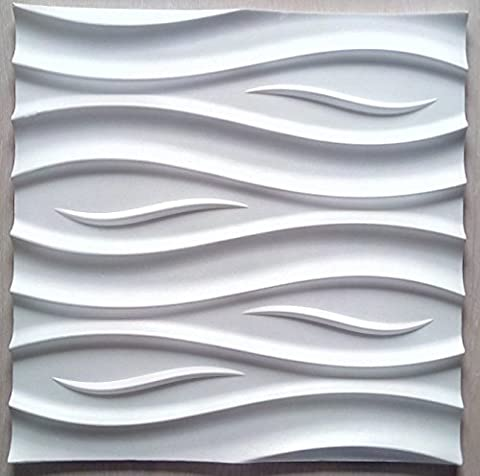 New 3D Decorative Wall Panels - 3D Wall Boards - 3D Wall Cladding - Premium - Ocean - 600 x 600 mm ( Pack 8 pcs / 2,88 sqm