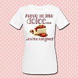 T-shirt donna Avevo un lato dolce. ma l'ho mangiato! Fetta di torta, cheesecake, divertente idea regalo!