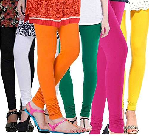 Vatsla Women\'s Cotton Leggings Combo (Pack of 6) (VHMJ6CMBFree Size_Multi Color)