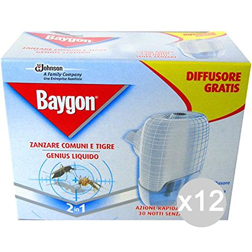Set 12 BAYGON Plug Base Box + Lade Liquid Repellent Insecticide