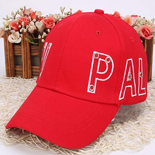 zhuzhuwen Bestickte Baseballmütze Beiläufiger Wilder Hip-Hop-Hut der männlichen und weiblichen Kappe beiläufiger Hut im Freien 1 56-59cm