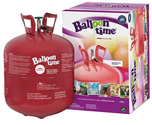 BalloonTime - Helium Gasflasche für bis zu 50 Luftballons, 420 Liter, zum selbst Befüllen von Ballons als Party Deko