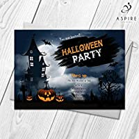 Personalised Halloween Invitations | Pumpkin Carving Ghost Party