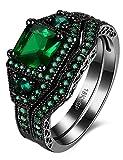 Schwarzer Messingring besetzt mit geschliffenen Diamanten, Verlobungsring