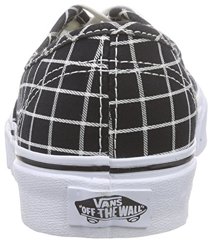 Vans Authentic Scarpe da Ginnastica Basse, Unisex Adulto Nero (grid/black)