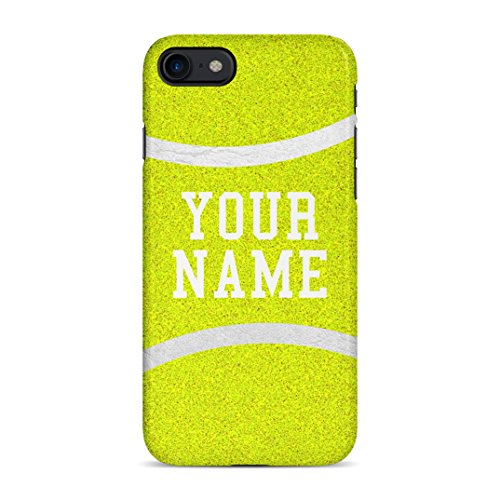 Tennis Ball Case Personalised Customizable Custom Name Initiale Text Gift Present Schutzhülle aus Hartplastik Handy Hülle für iPhone 7/iPhone 8 Case Hard Cover -