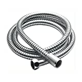 Shower Hose Chrome-Plated Stainless Steel 130 cm format standard 1/2 (15 mm x 21 mm) by Desineo