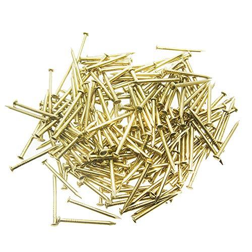 Lyanther 100 goldene Stahlnägel für String Art - 20 mm