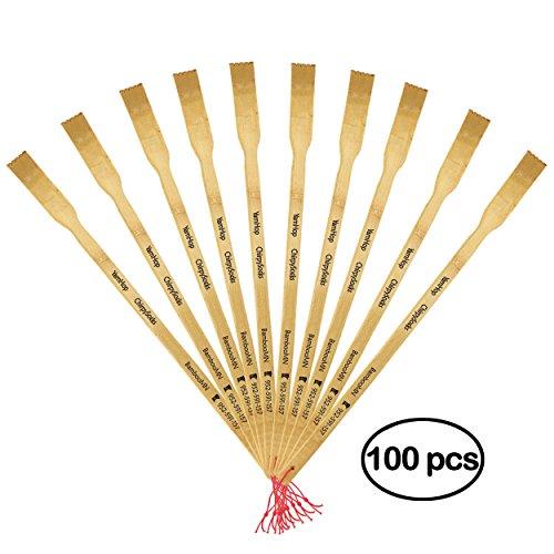 BambooMN Marke-44,5cm Logo Rückenkratzer Oder 44,5cm Logo Rückenkratzer Schuhlöffel (10, 30, 100) 16.5