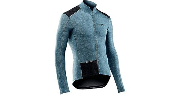 Northwave Fahrenheit Wool Winter Fahrrad Trikot blau 2019