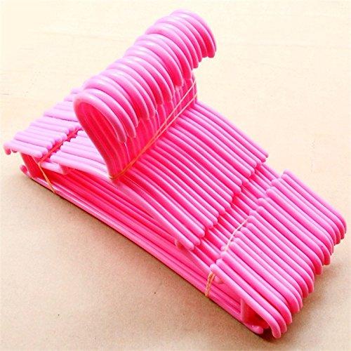 Interlink-UK 20 Stück Kinderkleiderbügel Baby Kinder Kleiderbügel Platzsparend (20 Stück, Pink)