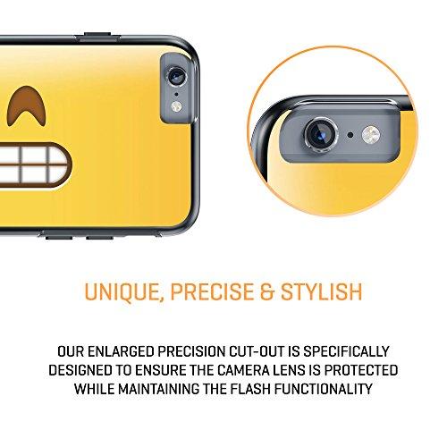 """iPhone 6 6s Plus 5.5"""" Case, True Color® Emoji Kuss Glänzend Herz 3D gedruckd Hybrid Hartschale + Soft TPU Bumper beständige Schutzhülle [Sammlung überall] Grinsendes Gesicht Glänzend Gebiss überall"""