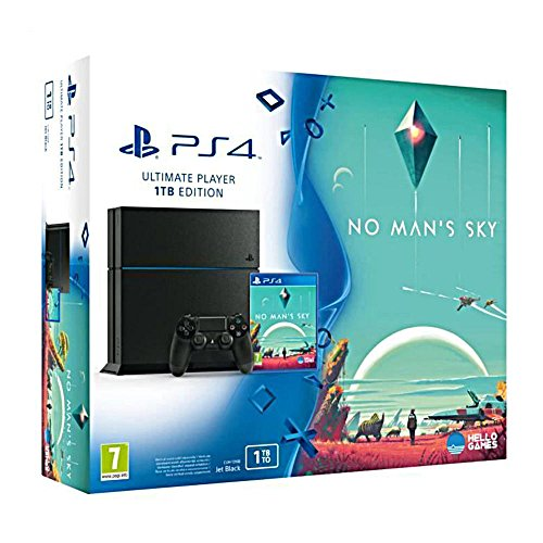 Console PS4 1 To Jet Black + No Man's Sky [Importación Francesa]