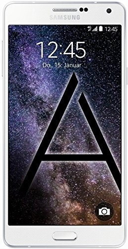 Samsung Galaxy A7 Smartphone (13,9 cm (5,5 Zoll) Full HD Super AMOLED-Display, 1,8GHz Quad-Core Prozessor, 13 Megapixel-Kamera, Android 4.4) pearl white