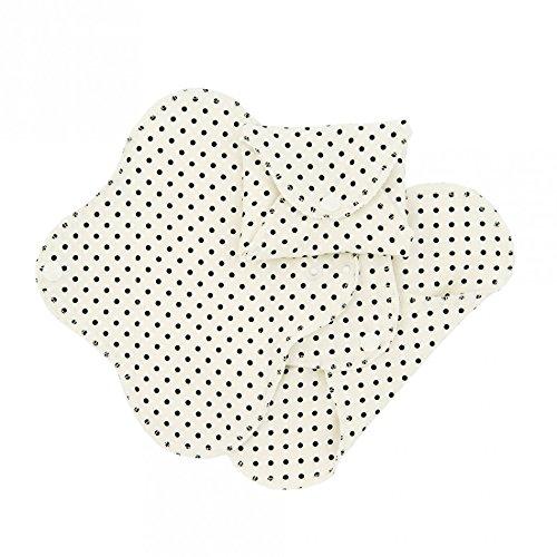 ImseVimse 3 compresas lavables para Dia (Panty Size: 9x20) Diseño: puntaos negros