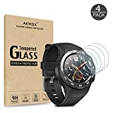 (Pack of 4) Screen Protector for Huawei Watch 2, Akwox [0.3mm 2.5D High Definition 9H] Premium Clear Screen Protective Film for Huawei Watch 2