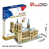 massG® 3D Notre Dame de Paris Jigsaw Puzzle Monument Decorative Scale Model Activity