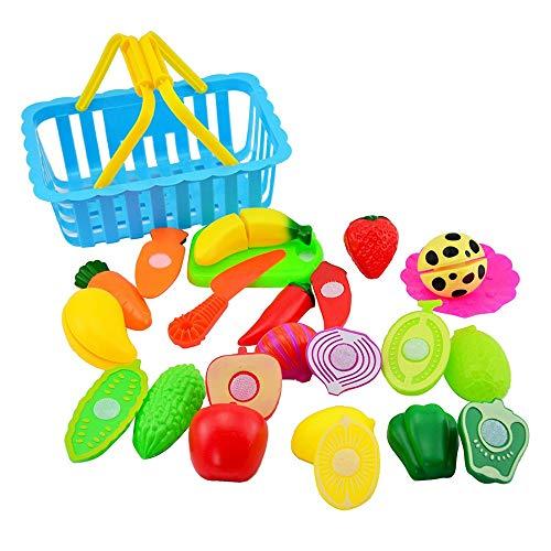 Corte de Frutas y Alimentos Falsos Juguete Educativo para la Primera Infancia , Sin Tóxico Juguetes Educativos, Niños de 3 o más años Gusspower