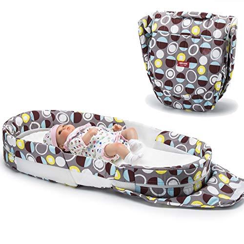 XJJUN Baby Bionic Bett Rucksack Reise Faltbar Leicht Zu Tragen Geschickt Reißverschluss Reinigung Kein Geruch Formaldehydfrei, 5 Farben (Color : B, Size : 90x41x13cm)