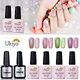 Ukiyo - Gel de esmalte para uñas UV LED de colores, serie High Gloss,4 unidades 4 PCS-3 …