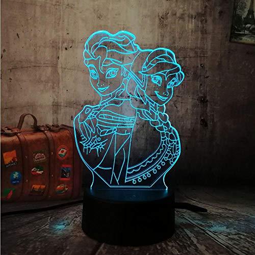3D Lampe Leuchte LED Stimmungslicht Mädchen Prinzessin 7 Farben Touch-Schalter Ändern Nachtlicht Für Schlafzimmer Hochzeit Weihnachten Valentine Geburtstag Geschenk