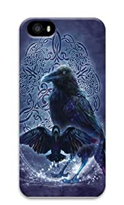 Celtic Raven PC Case Cover for iPhone 5 and iPhone 5s 3D by supermalls