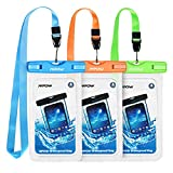 3 Packs; Mpow IPX8 Waterproof Case,Durable Underwater Dry Bag, Touch Responsive Transparent Windows,Watertight