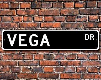Vega Chevrolet Vega Schild Chevrolet Vega Geschenk Chevrolet Vega Besitzer Classic Car Chevy Vega Fan Custom Street Sign Quality Metal Sign - Las Vegas Street Sign