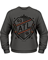 Plastic Head Men's All Time Low Shield CSW Banded Collar Long Sleeve Sweatshirt