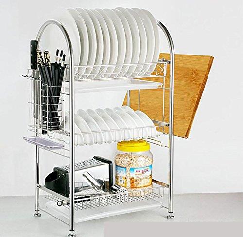 étagère de rangement Rack bol en acier inoxydable / Rack Cuisine / Égoutter rack Étagère d'armoire ( Couleur : 4# )