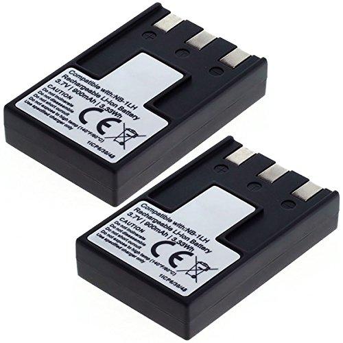 Cellonic 2X Qualitäts Akku für Canon Digital Ixus 500, 400, 430, 330, V2, V3, PowerShot S200 Digital Elph, S100, S400, S110 (900mAh) NB-1LH Ersatzakku Batterie