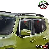 Jeep Renegade Deflettori D' aria Deflettore pioggia 4pezzi set anteriore & posteriore a partire dal 2014