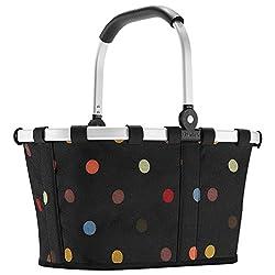 Reisenthel carrybag XS dots Einkaufskorb Picknickkorb Henkelkorb XS schwarz