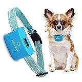 MASBRILL Anti Bell Halsband Wasserdicht Vibration Hundehalsband Einstellbar Nylon für Kleine mittlere Hunde Wiederauflladbar