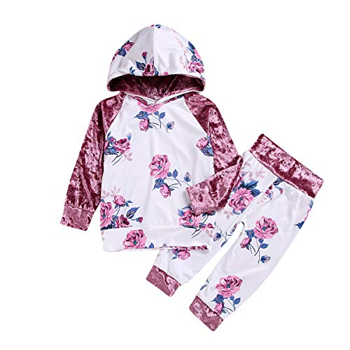 2 teile/satz Babykleidung Herbst Winter Kleidung Set Langarm Kapuzenhemd Sweatshirt & Hosen Trainingsanzug (Size : 4T-5T) -