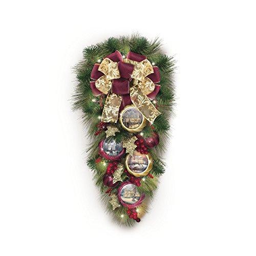 Willkommen Weihnachten - Weihnachtsdekoration mit 30 LED Lichtern und Weihnachtsornamenten von Thomas Kinkade -