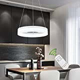 Create For Life® Lámpara colgante LED de diseño moderno,techo luz,lámpara colgante,dormitorio, sala de estar accesorio de iluminación.(Control Remoto 2700K ~ 5500K 25W)