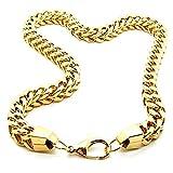1 Collar cadena o pulsera cuadrado Bizantina de acero inoxidable Ø 7 mm en color oro 22-70 cm con bolsa de regalo, neue Länge Schmuck:70