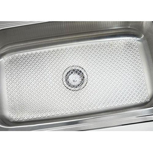 Mdesign Starry Kitchen Sink Protector Mat Extra Large Clear