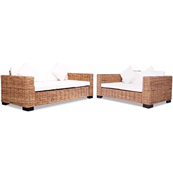 Festnight Lounge Sofa Gartensofa Gartenmöbel 8 Tlg Natur Amazonde