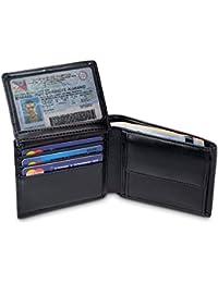 """TRAVANDO ® Geldbörse Herren """"BERLIN"""" mit RFID Schutz, Geldbeutel schwarz, Portemonnaie, Brieftasche im Querformat, Herrengeldbeutel, Herrenbörse, Herrengeldbörse, Herrengeldbeutel, Wallet mit Münzfach"""