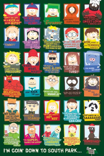 pyramid-international-pp30516-affiche-south-park-citations-en-anglais-61-x-915-cm