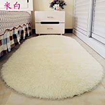 Preciosa alfombra oval felpudo hogar mesa de café salón dormitorio habitaciones alfombradas de cabecera de cama alfombras mantas ,60x160cm, m corta blanca cashmere