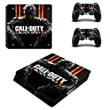 Playstation 4 Slim + 2 Controller Aufkleber Schutzfolien Set - Call of Duty: Black Ops III (1) /PS4 S