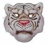 Mottoland Kostüm Zubehör Kinder EVA Maske weißer Tiger Karneval Fasching