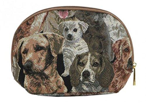 Kosmetiktasche Schminktasche 20 x 13 x 5 cm (Hunde) im Gobelin Stil Signare Fa. Bowatex -
